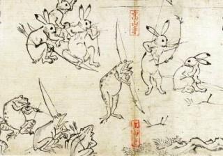 [和柄コラム](鳥獣戯画)日本最古の漫画、鳥獣戯画
