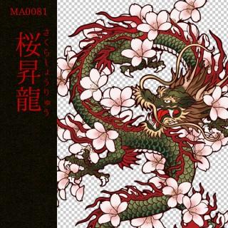 [和柄デザイン]MA-0081 桜昇龍